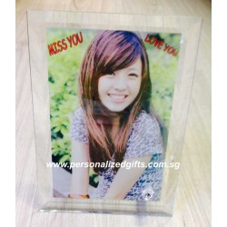 CRYSTAL PHOTO FRAME PHOTO 13CM X 18CM