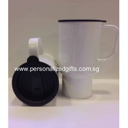 Polymer Jumbo Mug with cover 15OZ