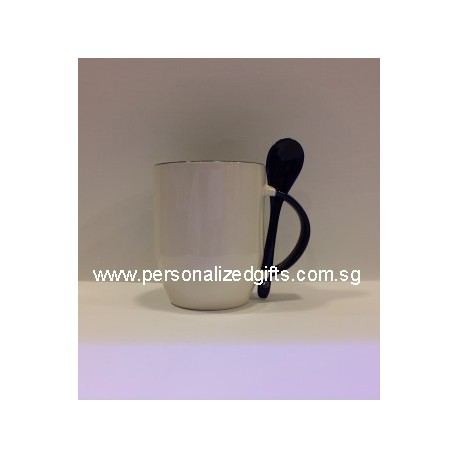 Ceramic Mug with Spoon 11OZ