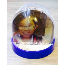 Acrylic dome-shaped water globe with floating Snow