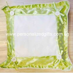 GREEN BUTTON CUSHION 33CMX33CM