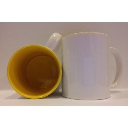 Inner Coloured Mug - Yellow 11OZ