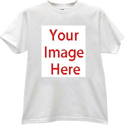 CUSTOMISE WHITE T-SHIRT (DRY FIT MATERIAL-SIZE XXS,XS,S,M,L,XL,XXL,)