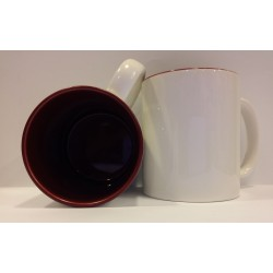 Inner Coloured Mug - Maroon 11OZ