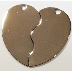 ENGRAVING COUPLE HEART SHAPE E6 TAG SIZE 5CM X 4CM
