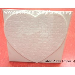 Heart Shaped Fabric/Felt Puzzle (75pcs)