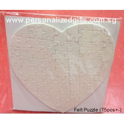 Heart Shaped Felt Puzzle (75pcs+-)