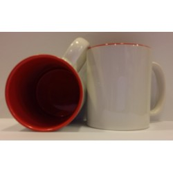 Inner Coloured Mug - Red 11OZ
