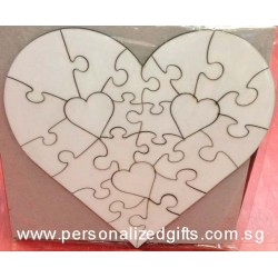 Heart Shaped HardBoard Puzzle (23pcs)