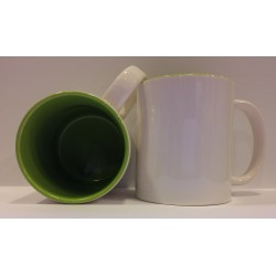 Inner Coloured Mug - Light Green 11OZ