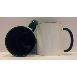 Inner Coloured Mug - Green 11OZ