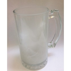 Frosted Jumbo Glass Mug 16OZ