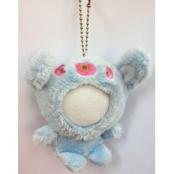 Customized Your Photo Face Soft Toy Blue Rabbit