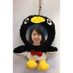 Customized Your Photo Face Soft Toy Black & White Penguin