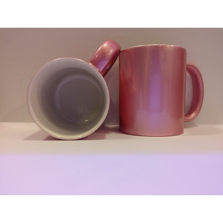 Metallic Ceramic Mug - Pink 11OZ