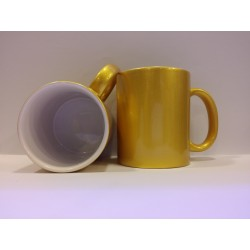 Metallic Ceramic Mug - Gold 11OZ
