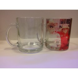 Clear Glass Mug 11OZ