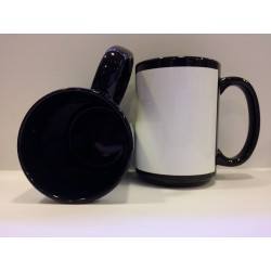 Full Coloured Jumbo Mug - Black 14OZ