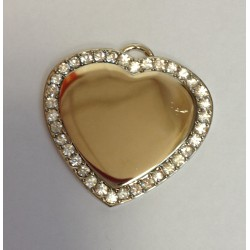 Photo Engraved Heart shape B10