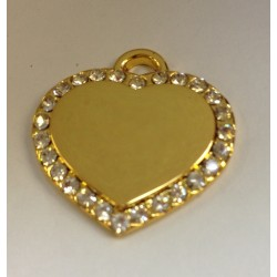 ENGRAVING MINI HEART SHAPETAG SIZE 2CM X 1.5CM